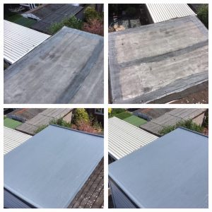 GRP Fibre Glass Flat Roof to a Garage